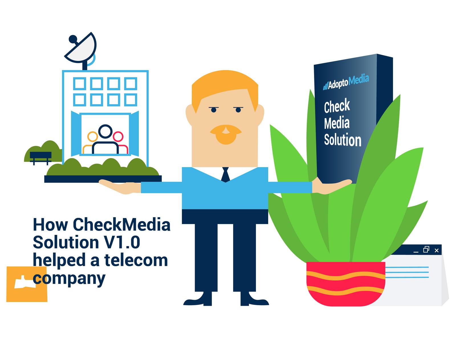 Telecom Company, AdoptoMedia, CheckMedia Solution, Media Plan Manager, Marketing Resource Management