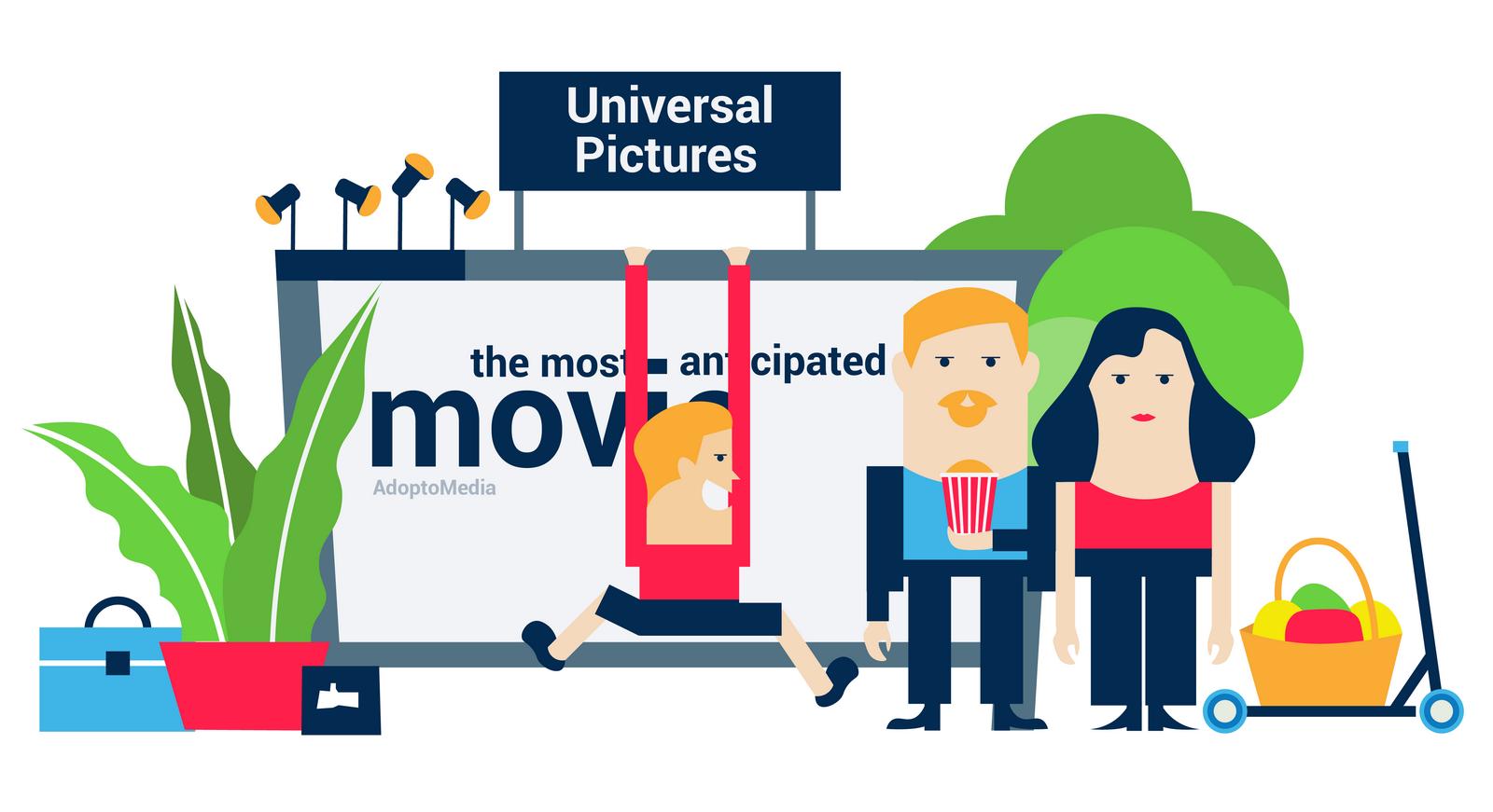 AdoptoMedia, Universal Pictures, advertising, OOH advertising, poster,