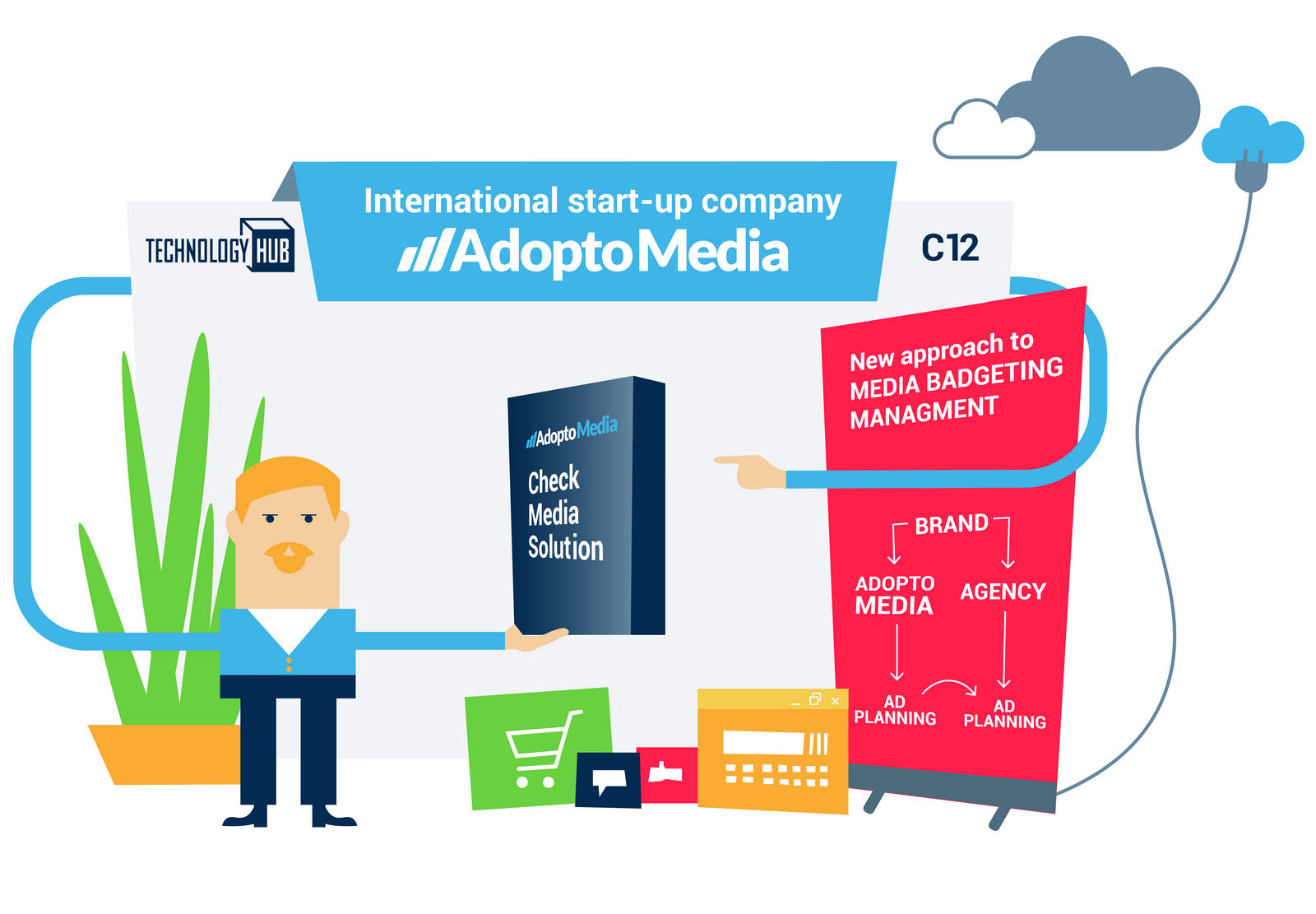 Technology HUB 2018, marketing, event, technological product, CheckMedia Solution, AdoptoMedia, advertising