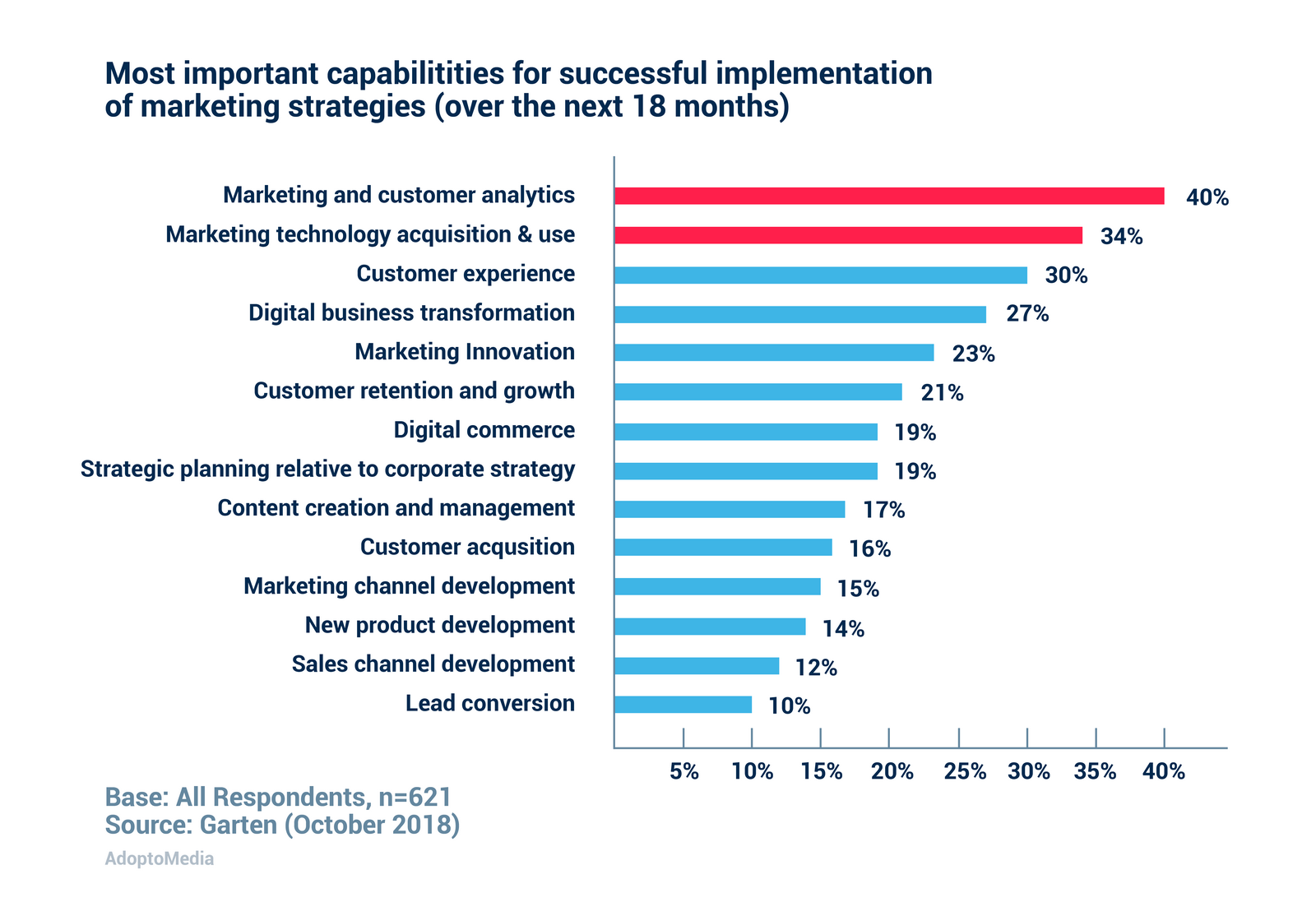most important marketing capabilities, customer analytics, marketing technology, ROMI optimisation