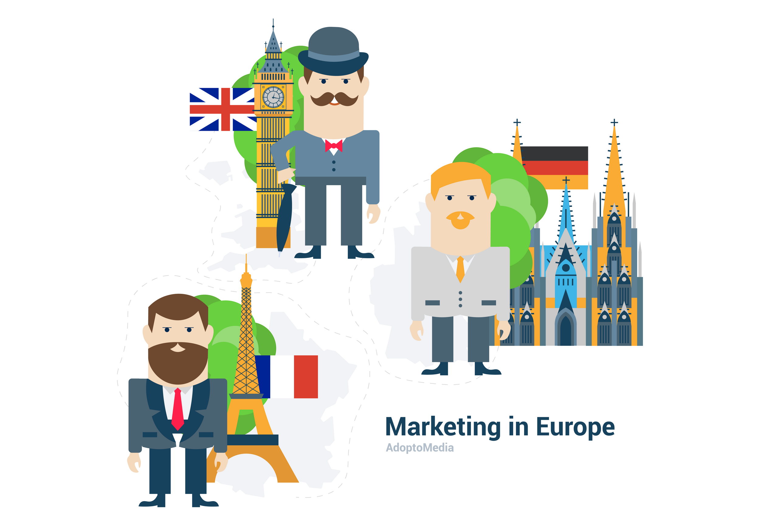 European marketing, EU marketing, the UK, France, Germany, marketing trends, ROMI measurement, ROMI increase, marketing automation, marketing technology, martech
