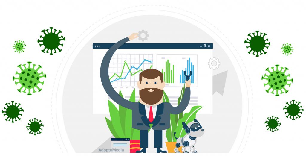 COVID-19, коронавирус, маркетинговая стратегия, распределение рекламного бюджета, измерение эффективности маркетинга, эффективный маркетинг, маркетинговая стратегия, маркетинговая стратегия во время COVID, корректировка MMM, моделирование маркетингового микса, AdoptoMedia, эффективный маркетинг
